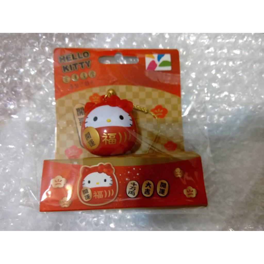 全新限量 Hello Kitty 金運達摩 3D 造型悠遊卡 蛋黃哥招財貓