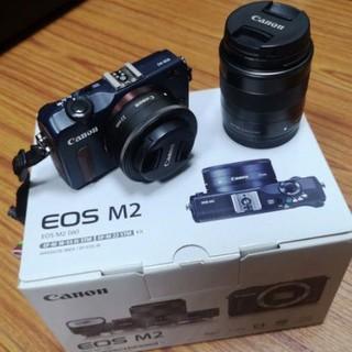 Canon 佳能 EOS M2 單眼 微單 雙鏡組 雙電池 輕薄片幅機 店面購入過保 全機正常 有貼保護貼 臺中市