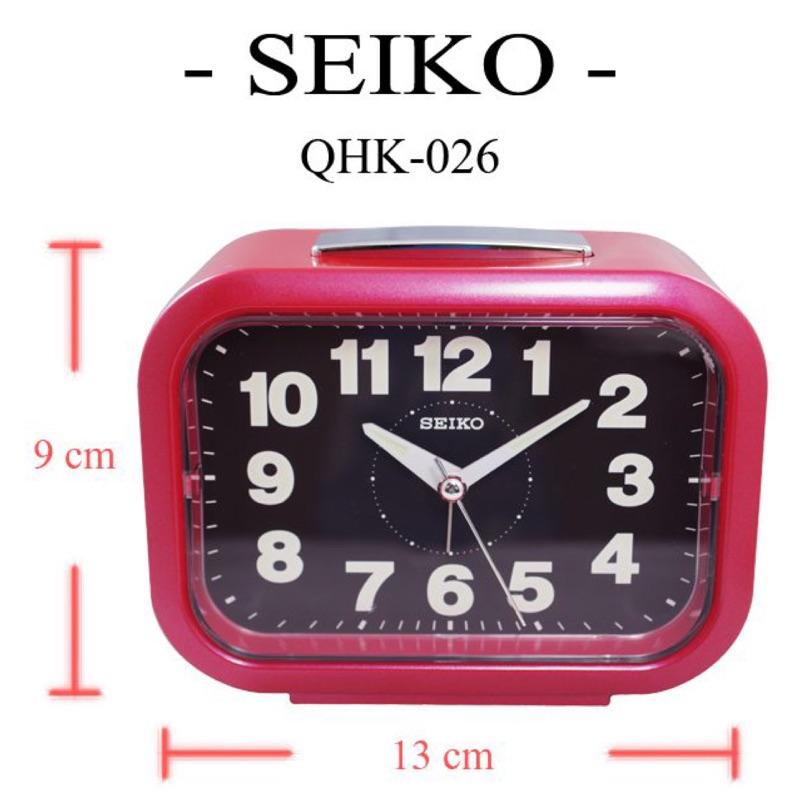 日本精工SEIKO 靜音夜光貪睡鬧鐘(QHK026)