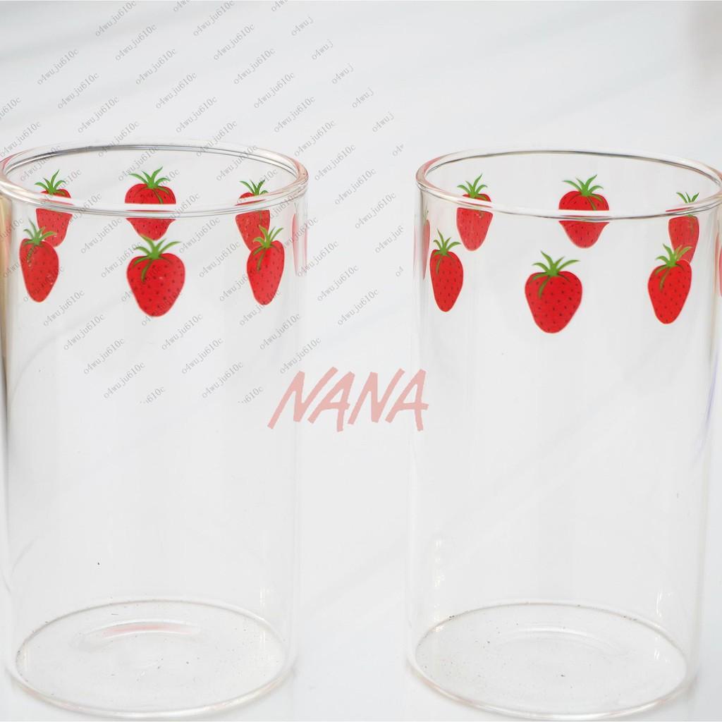漫畫版NANA草莓玻璃杯 高硼硅耐熱玻璃 可愛草莓牛奶杯 漫畫周邊零距離小鋪