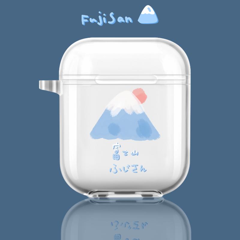 富士山AirPods Pro保護套蘋果無線藍牙原創耳機保護殼1/2代適用軟