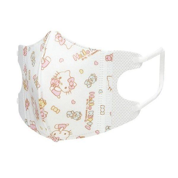 佳佳玩具 --- 日本進口 Kitty 嬰幼兒 1~3歲 三層 立體口罩 5入非醫療 口罩【37C3-386312】