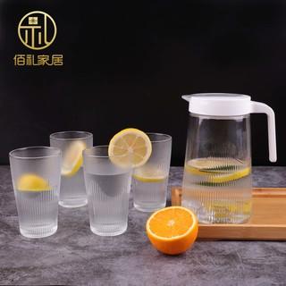 【加厚款】1.3L冷涼水壺家用玻璃大容量號杯子果汁泡茶壺杯具套裝 臺北市