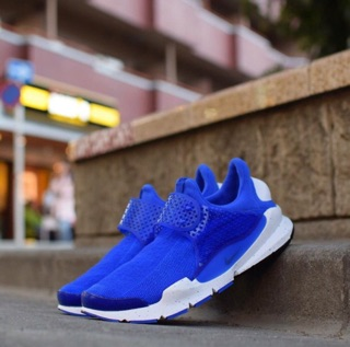 女生 24cm NIKE SOCK DART SE 寶藍 藍白 潑墨底 襪套 運動 慢跑鞋 平民版 833124-401 新北市