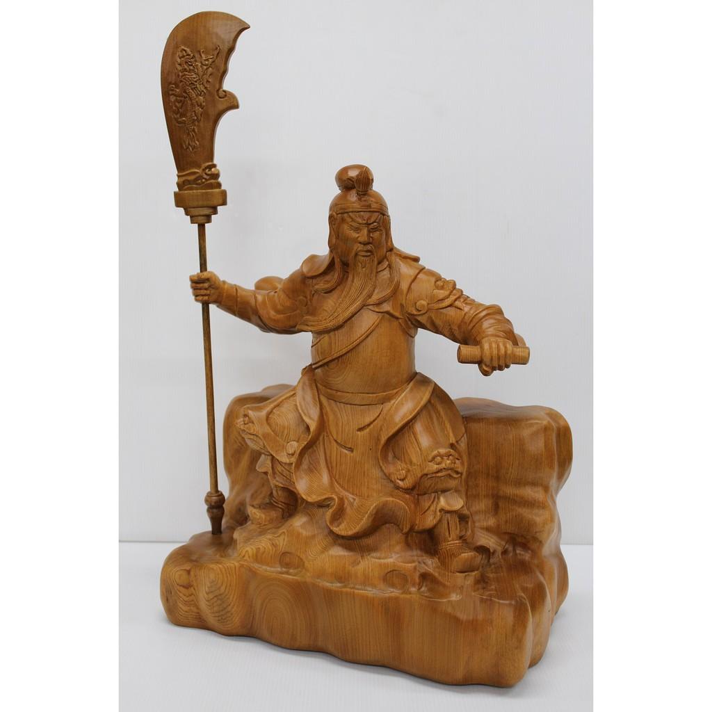 1尺3春秋文武關公(進口檜木)木雕