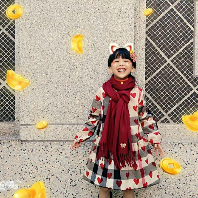 日本精品品牌Anna sui 酒紅色圍巾