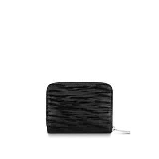 LOUIS VUITTON LV MONNAIE ZIPPY M60152 黑色水波紋拉鏈零錢包 全新正品