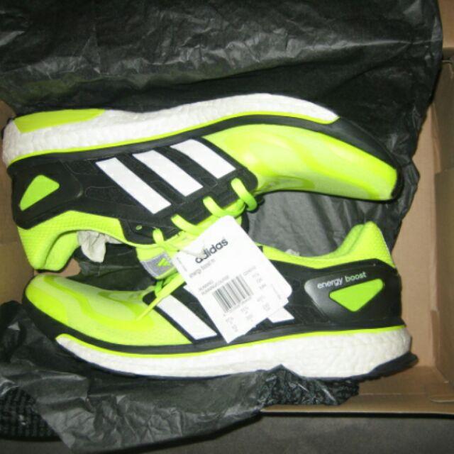 稀有 絕版配色 全新 Adidas  Energy  Boost 螢光黃 廣告款 US12