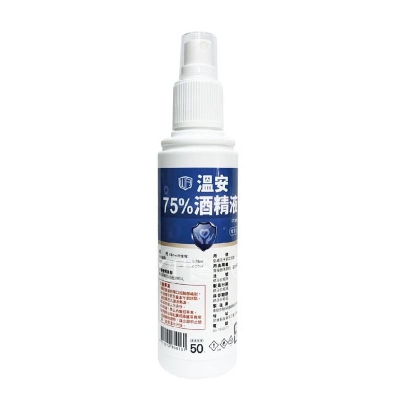 防疫必備😷溫安 75%噴霧式酒精 台酒 全久榮 台糖
