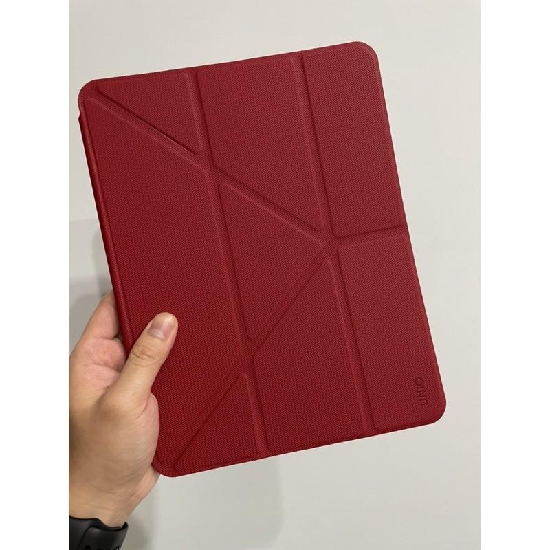 UNIQ Transforma Rigor (iPad Air 4 10.9吋)可立式帶筆槽抗菌平板保護套(近全新)