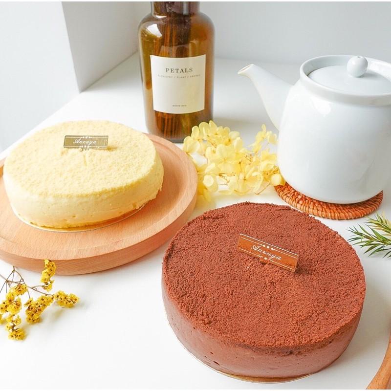 杏屋,招牌爆漿乳酪原味蛋糕、巧克力 堅持手作