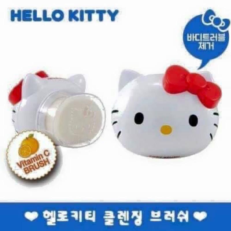 【韓國🇰🇷Hello Kitty軟毛身體刷清潔去角質洗臉刷】