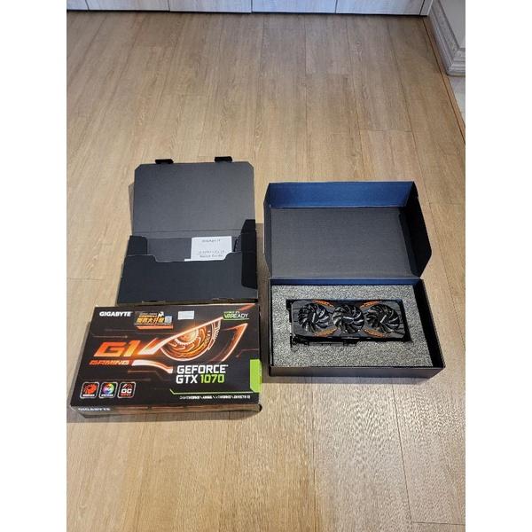 二手 GIGABYTE GTX-1070 G1-GAMING 技嘉電競顯示卡(無議價)