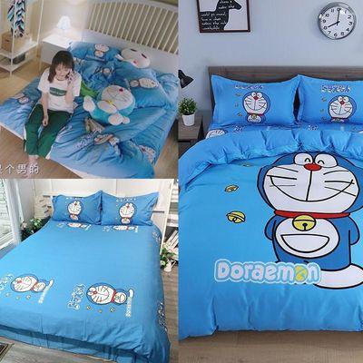 致我們暖暖的小時光 卡通叮噹貓 司徒末同款 全棉床罩 床單 被單 枕套 被套 床上四件套 哆啦A夢