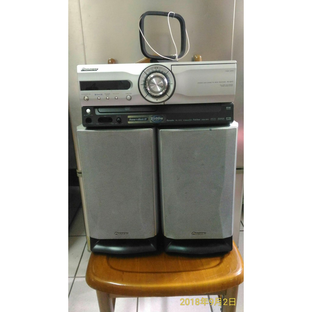 日本 pioneer 先鋒 XV GX3 DVD 收音機 錄音帶 音質超棒