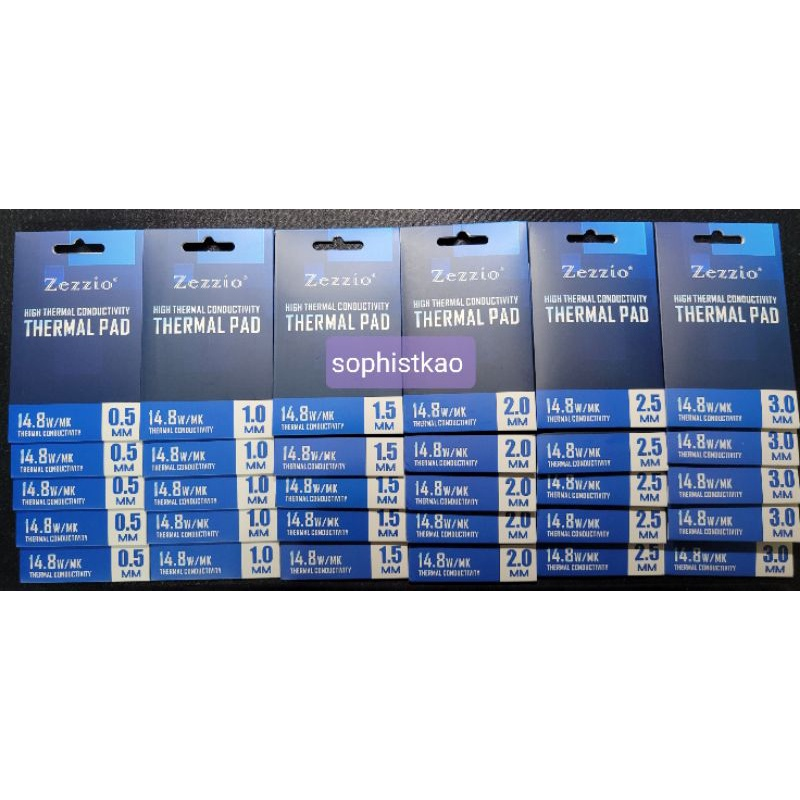 14.8 W/MK 導熱率 業界最高 美國 ZEZZIO 導熱貼 散熱片 顯卡3080 3090散熱解決方案