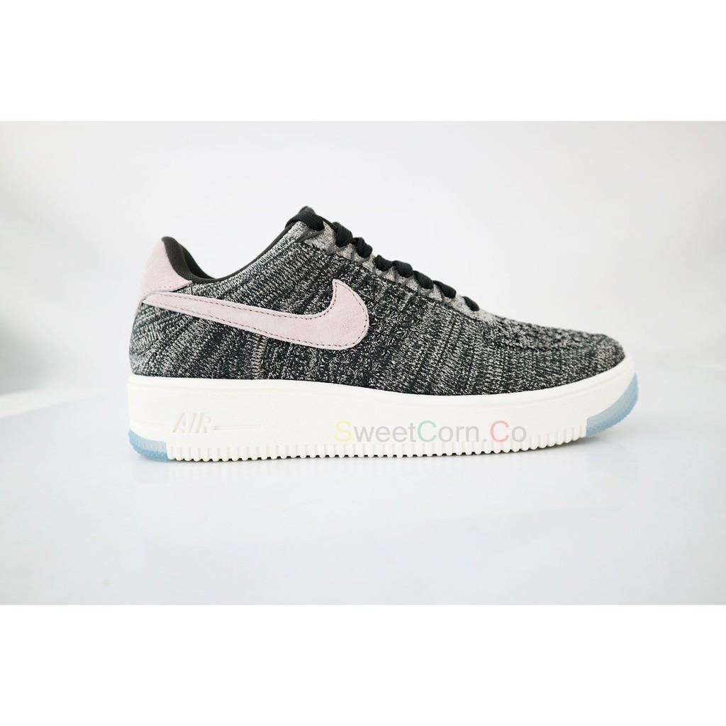 purchase cheap 50381 dd1a0 NIKE W AF1 FLYKNIT LOW 820256-008 灰色 白勾 運動休閒鞋
