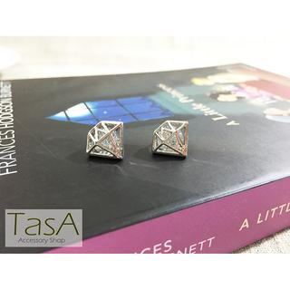 TasA Accessory shop-金屬鑽石閃爍耳環 屏東縣