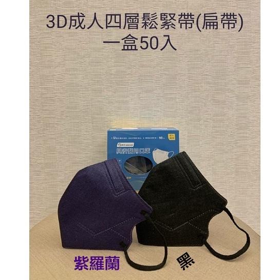 現貨 興安醫用口罩 成人3D立體醫用口罩《扁繩》4層口罩 3D口罩 立體口罩 醫療級口罩*深色款50入/盒-36