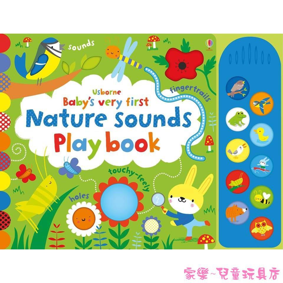 【Usborne】英國正版 Baby's very first nature sounds playbook