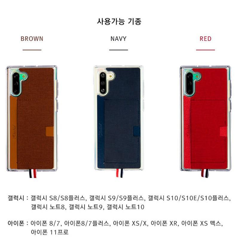 ☽韓國正版三星note10+可放卡手機殼S10防摔可掛繩硅膠保護套時尚潮