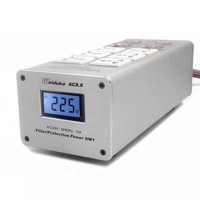 萊特 音線週邊 Weiduka AC8.8音響專用電源濾波插座 + 美國Monster 400電源線&歐亞德插頭