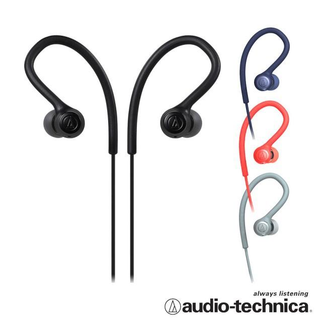 視聽影訊 送收納袋 一年保固 鐵三角ATH-SPORT10 四色 運動耳塞式耳機
