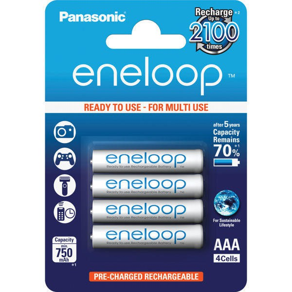 Panasonic eneloop 低自放鎳氫充電電池BK-4MCCE(4號4入)-BATTE854