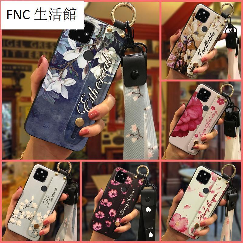 FNC生活館💎花系列全包邊Google Pixel 4A 5G潮流矽膠手機套女神風格軟殼保護殼TPU潮女腕帶殼保護套z