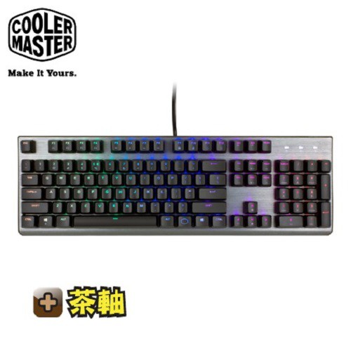 酷碼CoolerMaster CK350 RGB機械式鍵盤-茶軸中文