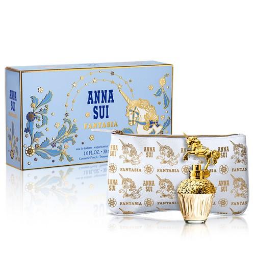 法意公司貨 ANNA SUI安娜蘇 童話獨角獸香水禮盒(30ml淡香水+手拿包)