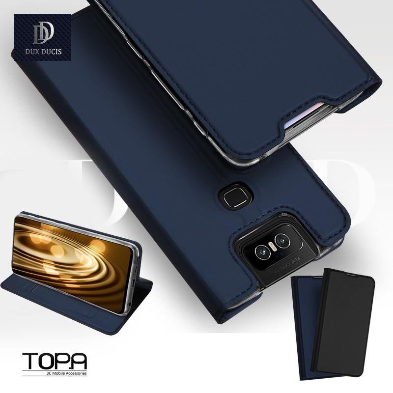 華碩 Zenfone 7 7 pro 6  磁吸插卡立架 耐髒 保護套 手機皮套 時尚簡約 潮流 手機殼【黑紗】