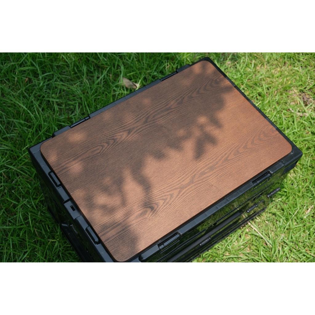 八刀草 軍事風箱 側開式摺疊收納箱 摺疊收納箱 胡桃桌板 露營美學 居家生活 Filter017
