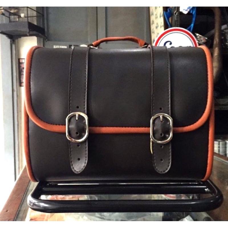 Vespa 偉士牌 棕褐色 皮箱