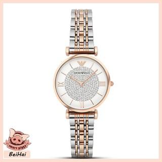 ARMANI 阿瑪尼 女士手錶 休閑手錶 商戶手錶 石英手錶 滿天星镶钻潮流鋼帶 簡約手錶 AR1926 桃園市