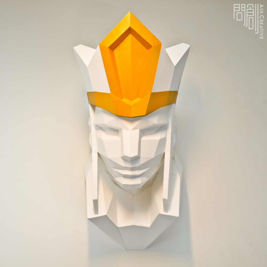 問創設計 DIY手作3D紙模型 禮物 擺飾 神秘 西遊記 奇幻系列 -三藏壁飾