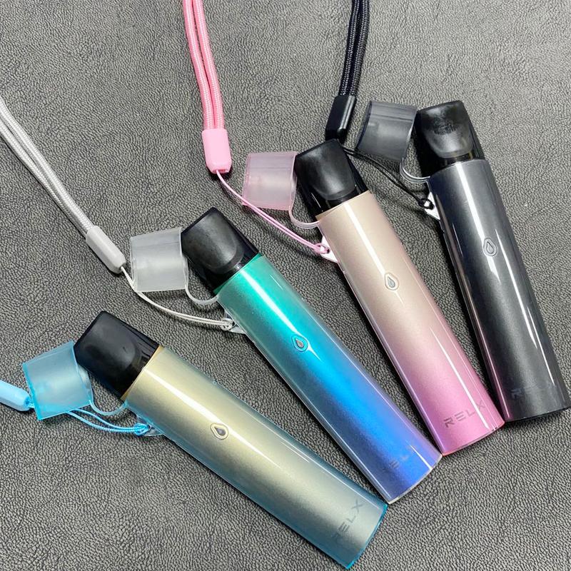 RELX一代煙桿保護套 悅刻一代皮套電子器式煙桿掛繩 relx透明式套