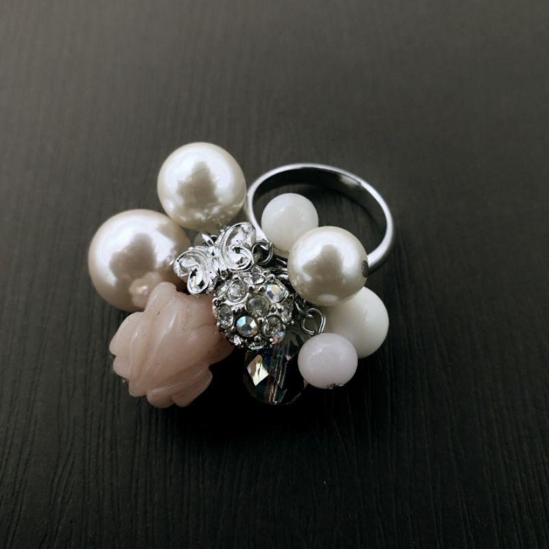 Anna sui 花朵 戒指 正品 打翻珠寶盒r02