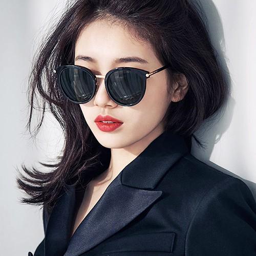 seoul show首爾秀 韓星同款小貓眼圓框太陽眼鏡UV400墨鏡 9215