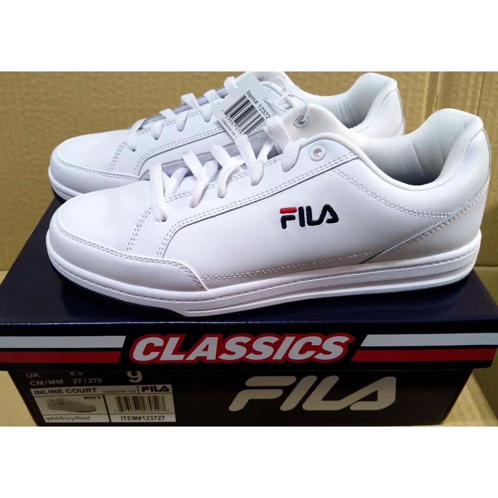 fila 婓樂 男 休閒運動鞋 白色 情侶鞋 uk8.5 27cm costco 代購 好市多