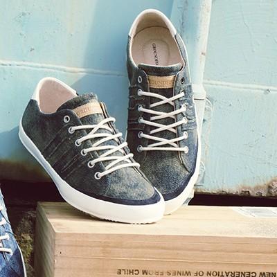 【GROUNDFIVE】男女 / KALASH時尚有型/ 水洗單寧帆布鞋- G5161402 軍綠 / 原價2380元