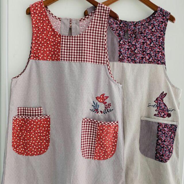 日式圍裙新款純棉圍裙
