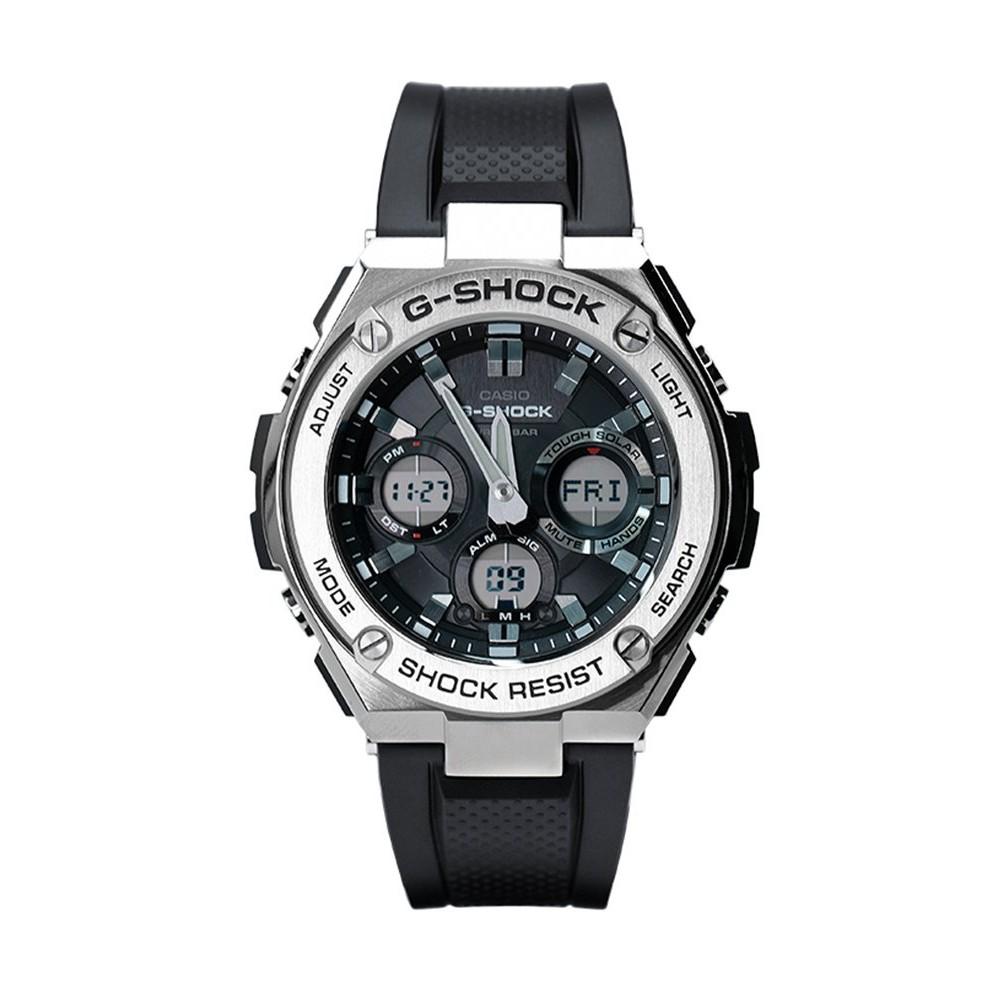 卡西歐G-STEEL鋼鐵黑暗之心光動能運動雙顯手錶男女GST-S310-1A