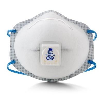 3M 8577 呼吸閥有機氣體口罩 P95等級 油性粉塵 有機氣體 (10個/盒) 3M口罩 #工安防護具專家