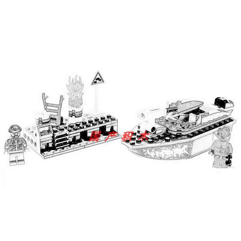 兼容樂高60213城市消防系列碼頭失火救援男孩拼裝玩具積木02130