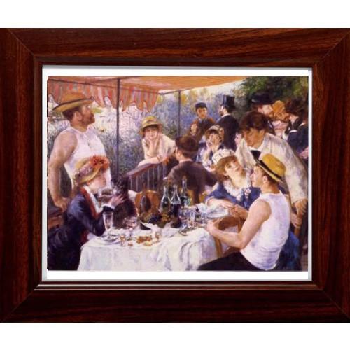 開運陶源 【船上的午宴】雷諾瓦Renoir 世界名畫 掛畫 38x32cm