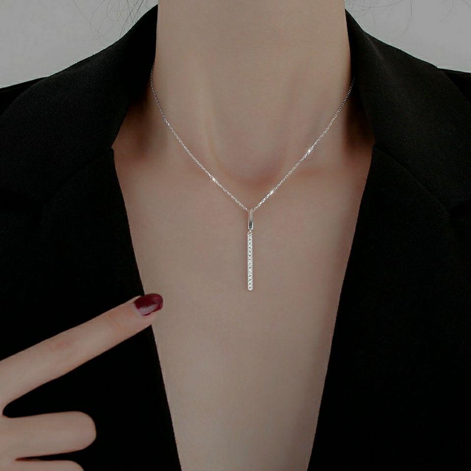 熱銷新款網紅小飾品 小眾設計感ins高級感鎖骨鏈女簡約氣質爆款一字項鍊輕奢