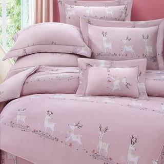 60支100%純天絲TENCEL【雙人 加大 特大組合】規格可選  兩用被床包四件組 七件式鋪棉床罩組 迷兒鹿 臺中市