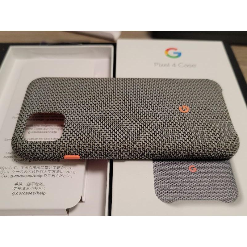 google pixel 4 原廠織布保護套 灰色 二手品