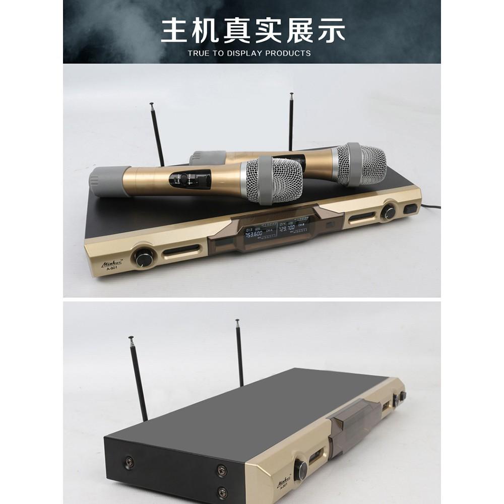 特惠藏樂閣U段A-801無線話筒 無線舞臺麥克風家庭KTV點歌機音響套裝